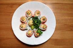 Circle of sushi roll royalty free stock photo