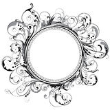 Circle swirl frame Stock Images
