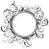 Circle swirl frame Stock Images
