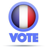 Circle Symbol of Election 2017 in France. Royalty Free Stock Image