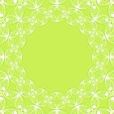 Circle symmetrical background. Circle vector green symmetrical background Stock Photography