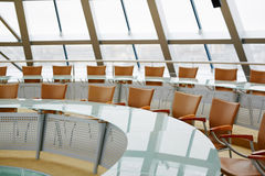Circle tables and chairs Royalty Free Stock Images