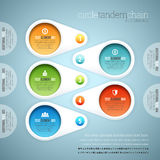 Circle Tandem Chain Infographic Royalty Free Stock Photos