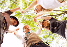 Circle of teenage friends Royalty Free Stock Photo