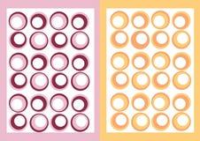 Circle templates stock image