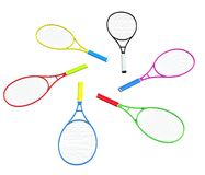 Circle of tennis racquets Stock Image