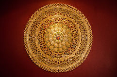 Circle Texture. Gold Circle Texture Abstract art royalty free stock photography
