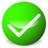 Circle with tick, check mark symbol. Approve, correct, accept, r Royalty Free Stock Photography