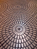 Circle tiled pattern floor Stock Photography