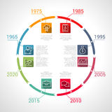 Circle Timeline Infographic. Vector business design template. Royalty Free Stock Images