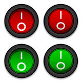 Circle toggle power switches Royalty Free Stock Photo