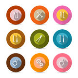 Circle Tools Vector Icons Royalty Free Stock Image