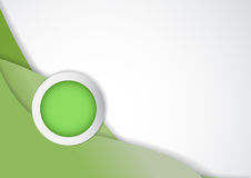 Circle for topic and green background Royalty Free Stock Image