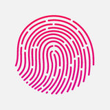 Circle touch fingerprint id app vector illustration Royalty Free Stock Image