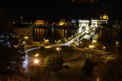 Circle traffic in Budapest Royalty Free Stock Image