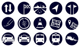 Circle Travel Icons Stock Image