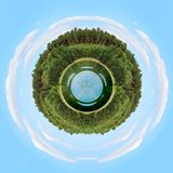 Circle tree with blue sky Royalty Free Stock Photography