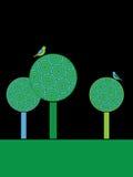 Circle trees Stock Image