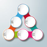 Circle Triangle Chain 6 Options Royalty Free Stock Image