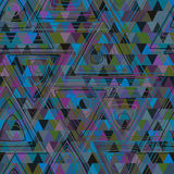 Circle triangle line color vintage seamless pattern Royalty Free Stock Image