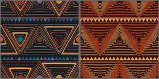 Circle triangle style set seamless pattern Royalty Free Stock Image
