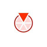 Circle of triangles, one of which is more than any other. Royalty Free Stock Images
