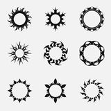 Circle tribal ornaments Stock Images