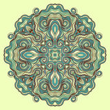 Circle turquoise pattern Royalty Free Stock Image