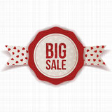 Circle Valentines Day Big Sale Emblem with Text Royalty Free Stock Image