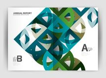 Circle vector abstract backgrounds, annual report business templates Royalty Free Stock Image