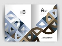 Circle vector abstract backgrounds, annual report business templates Royalty Free Stock Photography