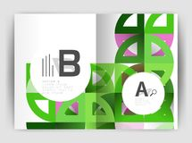 Circle vector abstract backgrounds, annual report business templates Royalty Free Stock Images