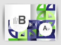 Circle vector abstract backgrounds, annual report business templates Royalty Free Stock Photo