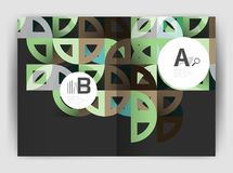 Circle vector abstract backgrounds, annual report business templates Royalty Free Stock Photos