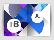 Circle vector abstract backgrounds, annual report business templates Stock Photography
