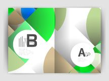 Circle vector abstract backgrounds, annual report business templates Stock Images