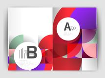 Circle vector abstract backgrounds, annual report business templates Stock Image