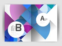 Circle vector abstract backgrounds, annual report business templates Stock Photo