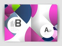 Circle vector abstract backgrounds, annual report business templates Stock Photos