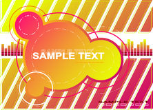 Circle vector background. Red music background. Vector illustration royalty free illustration