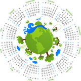 Circle vector calendar 2010 Royalty Free Stock Photos