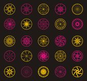Circle vector flower ornaments Stock Photos