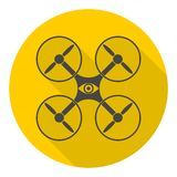 Circle vector icon for quadrocopter, silhouette quadrocopter a top view icons set Stock Images