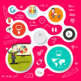 Circle Vector Infographics and Web Design Stock Photography