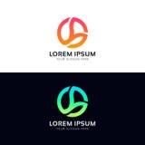 Circle vector logo icon company sign. Vector logo icon company sign Royalty Free Stock Image