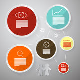 Circle Vector Paper Infographics Layout Stock Photos