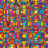 Circle vertcial horizontal color syymetry seamless patttern. This illustration is drawing circle with symmetry vertical and horizontal in colorful seamless Royalty Free Stock Photos