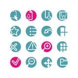 Circle viewer icons Royalty Free Stock Images
