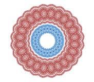 Circle vignette lace ornaments set Royalty Free Stock Images