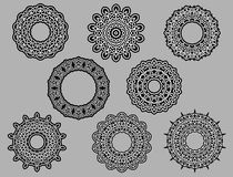 Circle vignette lace ornaments Royalty Free Stock Images